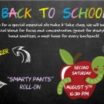 Back to School Second Saturday